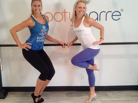 Tracey Mallet and Nathalie OTT in Pasadenas- studio Booty Barre