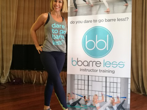 Nathalie in Los Angeles for BBARRE LESS mastertraining Oct 2016