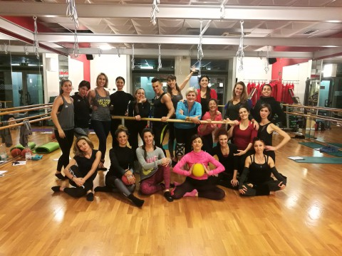 NATHALIE in Virgin Active Milan for Bootybarre Mastertraining – Dic 2016